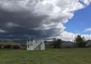 MIRA-35C Peru vor Wolken