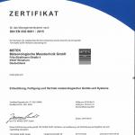 DIN ISO 9001 Zertifikat 2018
