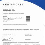 DIN ISO 9001 Certificate 2018